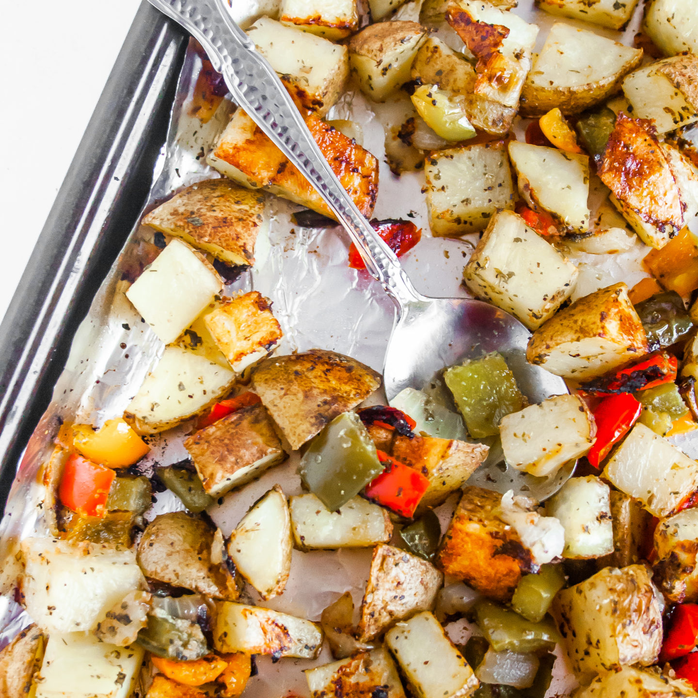 Roasted Potatoes, Peppers, and Onions