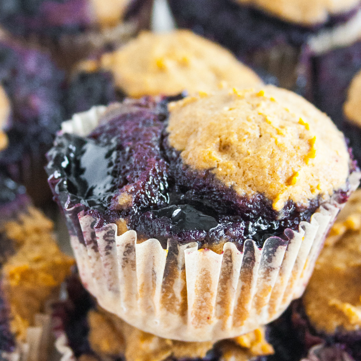 Healthy Peanut Butter Jelly Muffins