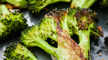 Roasted Broccoli with Garlic and Almonds