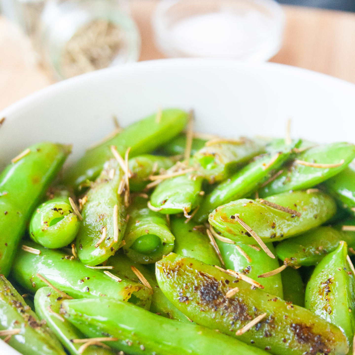 Rosemary Sea Salt Sugar Snap Peas