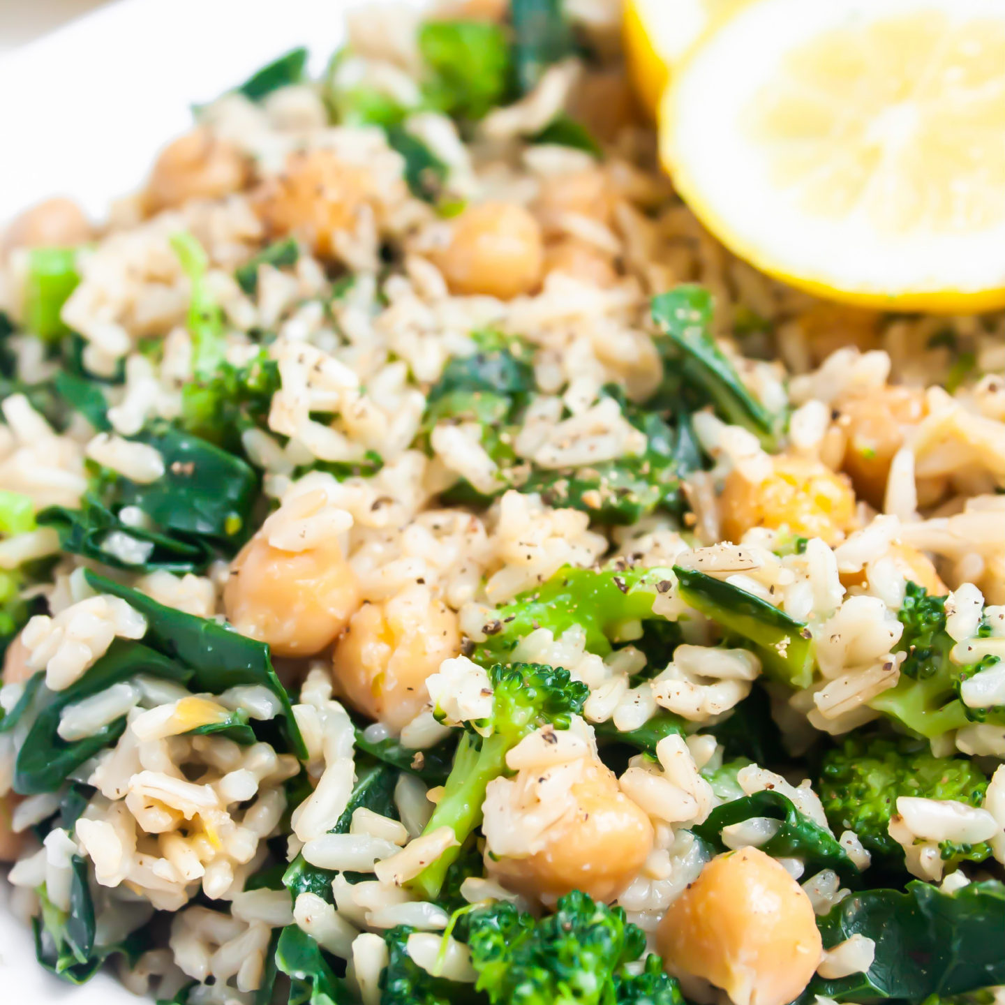 Broccoli and Chickpea Rice